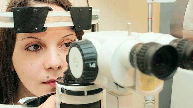 Изучение переднего отдела глаза